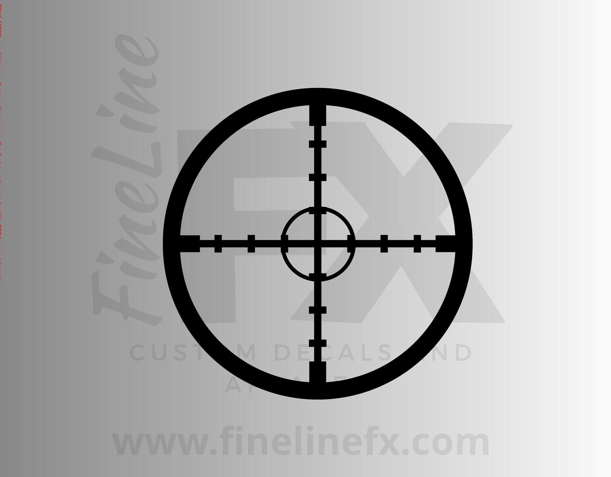 Rifle Scope Crosshairs Target Vinyl Decal Sticker