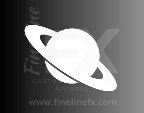 Saturn Planet With Rings Vinyl Decal Sticker