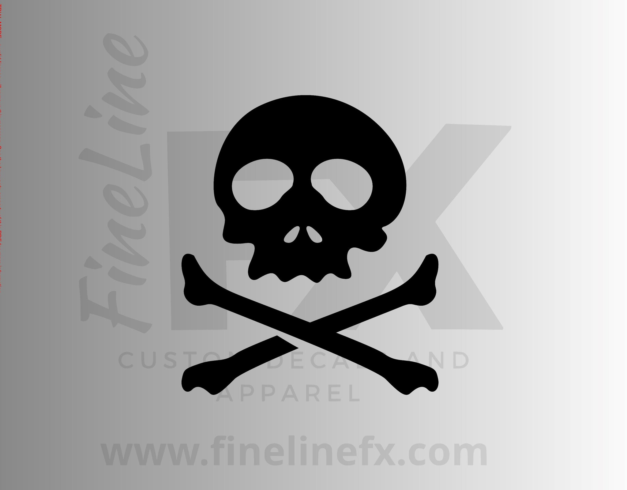 Skull and Crossbones Danger Poison Vinyl Decal Sticker