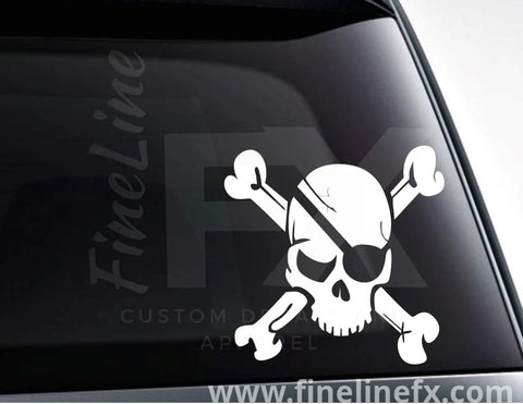 Skull And Crossbones Vinyl Decal Sticker