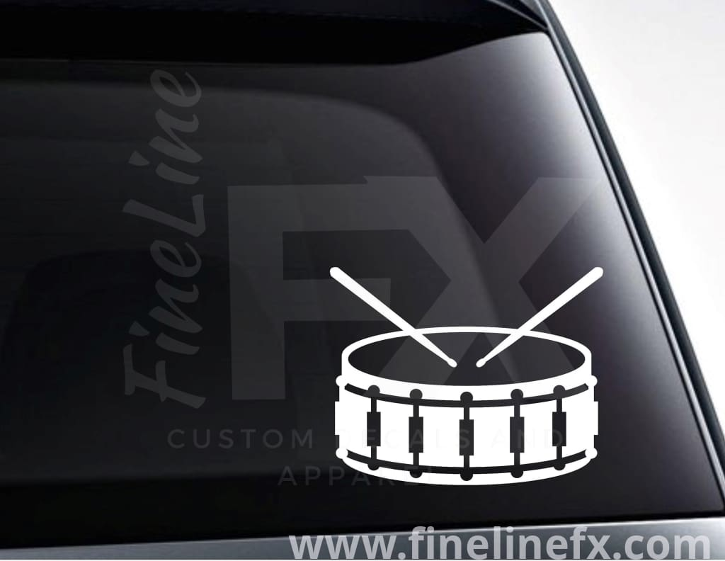 Snare Drum And Drum Sticks Vinyl Decal Sticker