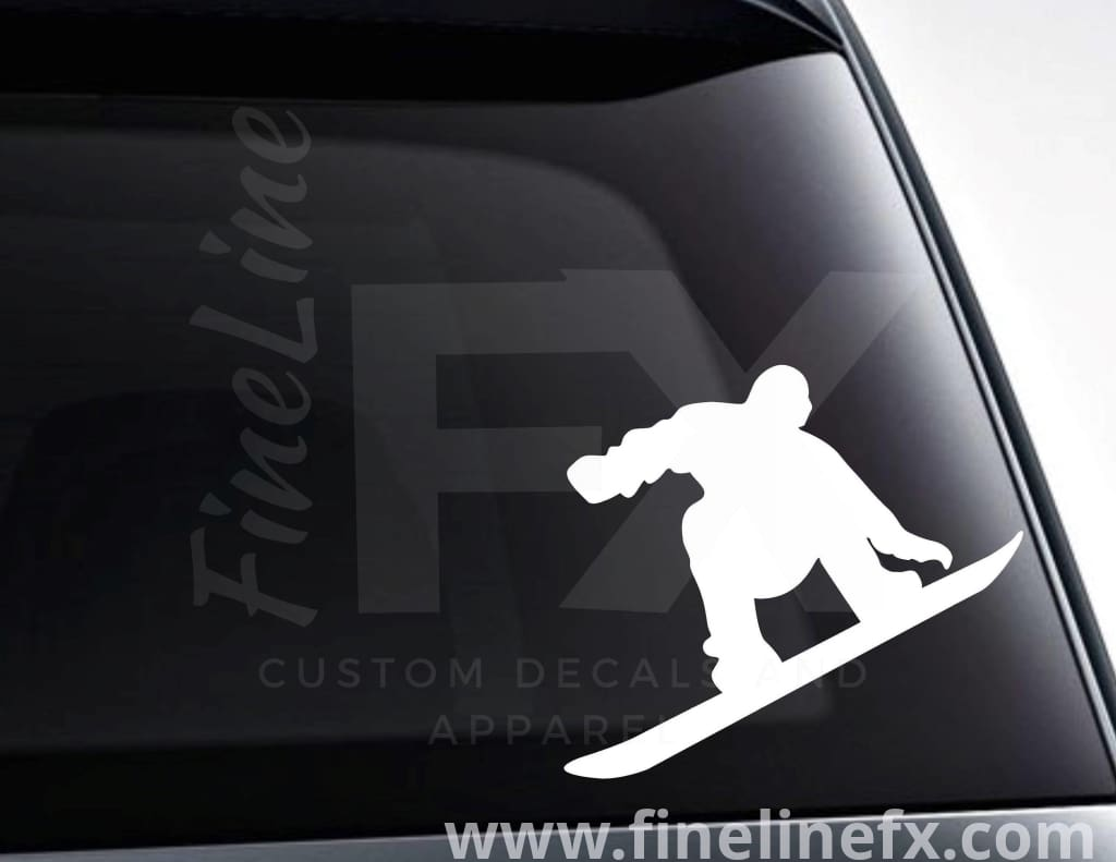 Snowboarder Silhouette Vinyl Decal Sticker