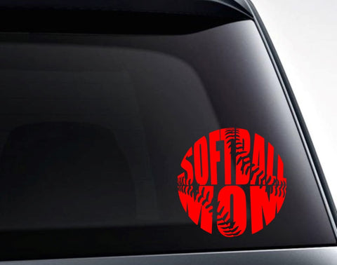 Softball Mom Vinyl Decal Sticker