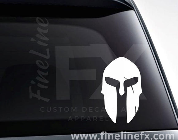 Spartan Helmet Vinyl Decal Sticker - FineLineFX