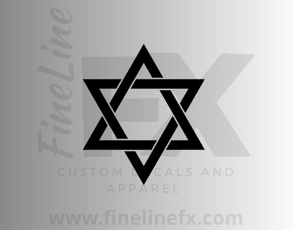 Star Of David Vinyl Decal Sticker - FineLineFX