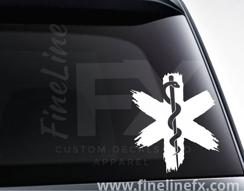 Star Of Life EMS Medical Logo Vinyl Decal Sticker
