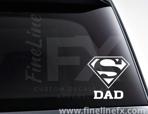 Super Dad Vinyl Decal Sticker
