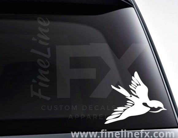 Swallow Bird Tattoo Vinyl Decal Sticker - FineLineFX