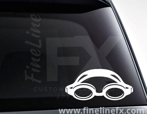 Swimming Goggles Vinyl Decal Sticker