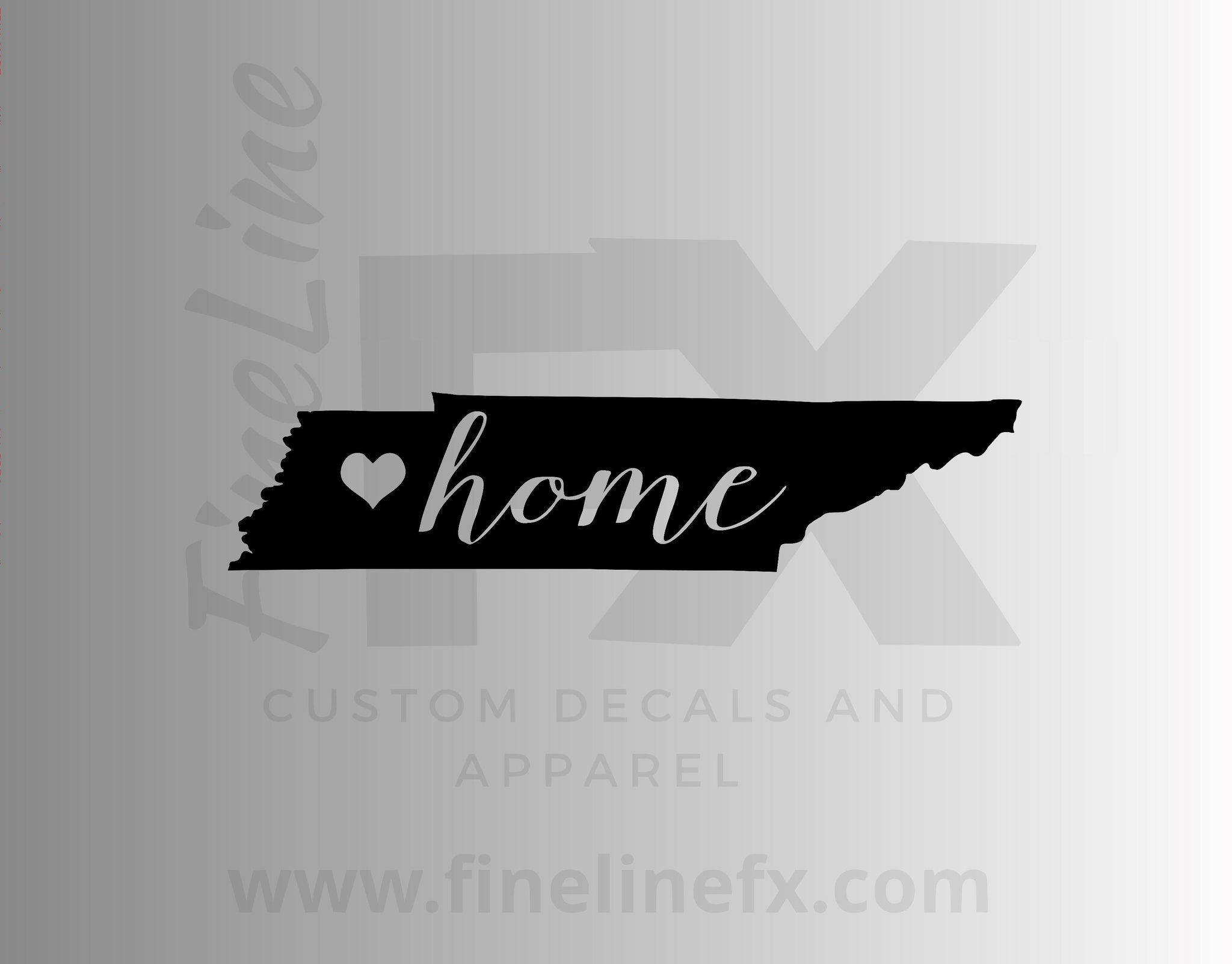 Tennessee Home State Vinyl Decal Sticker