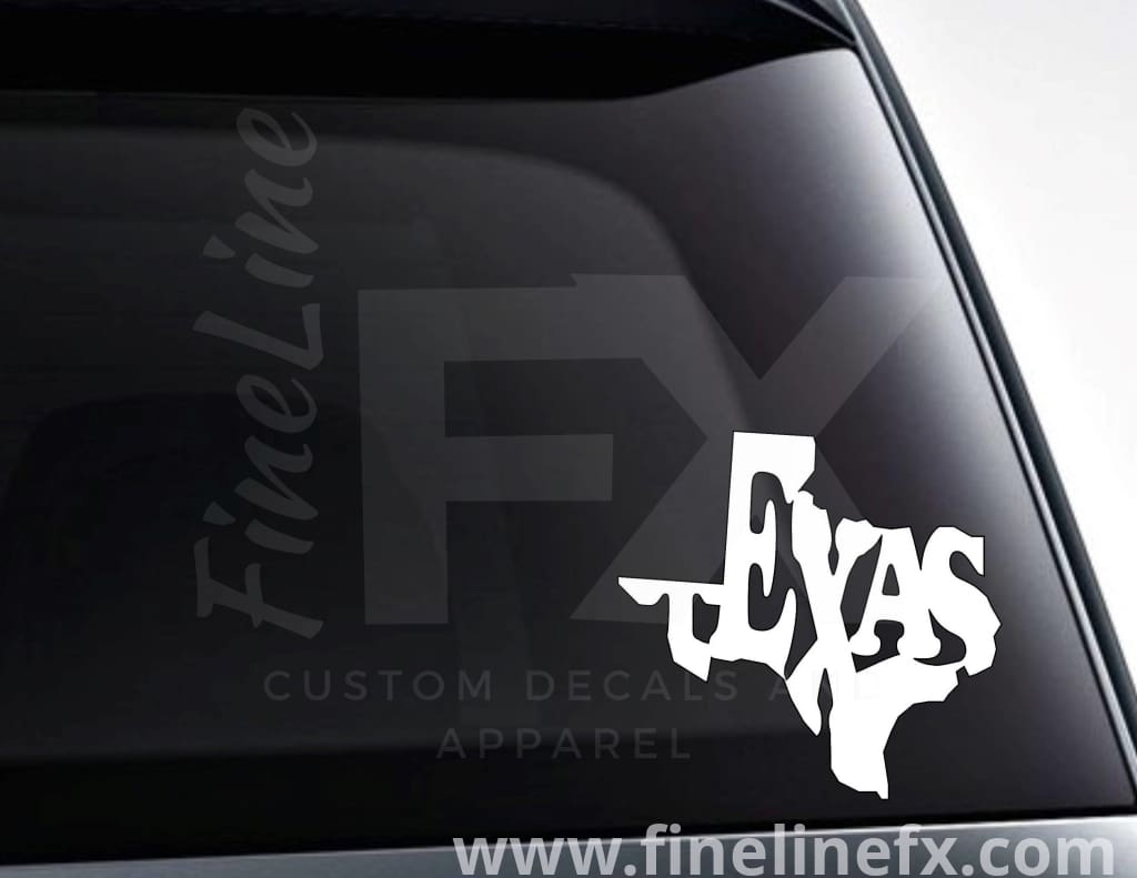 Texas State Word Art Vinyl Decal Sticker