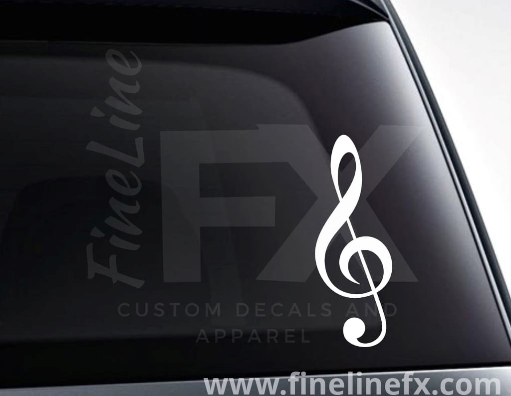 Treble Clef Music Note Vinyl Decal Sticker