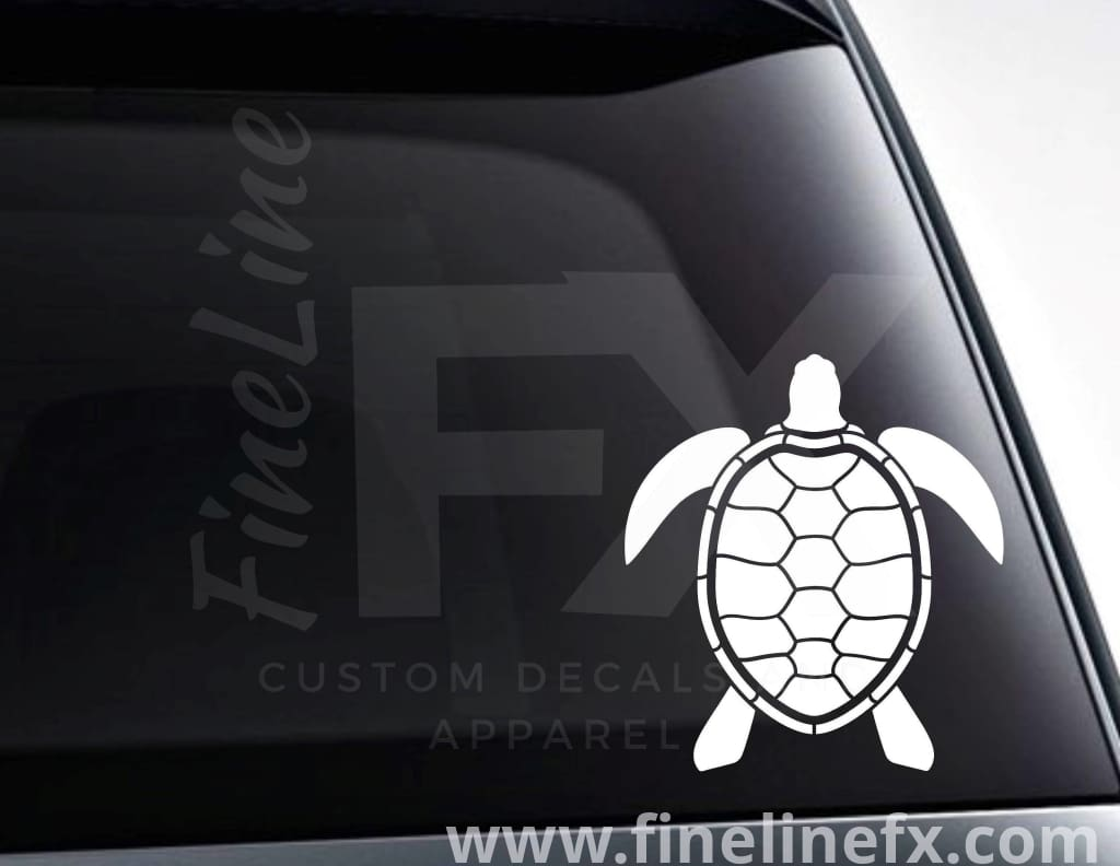 Turtle Tortoise Design Vinyl Decal Sticker