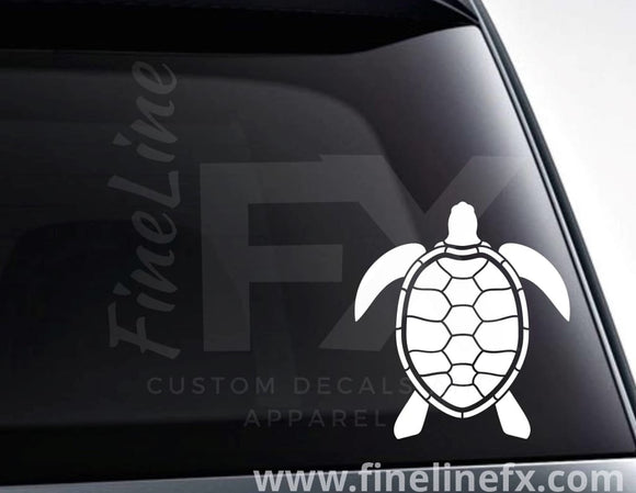 Turtle Tortoise Design Vinyl Decal Sticker - FineLineFX