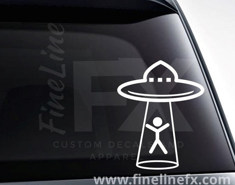UFO Alien Abduction Vinyl Decal Sticker