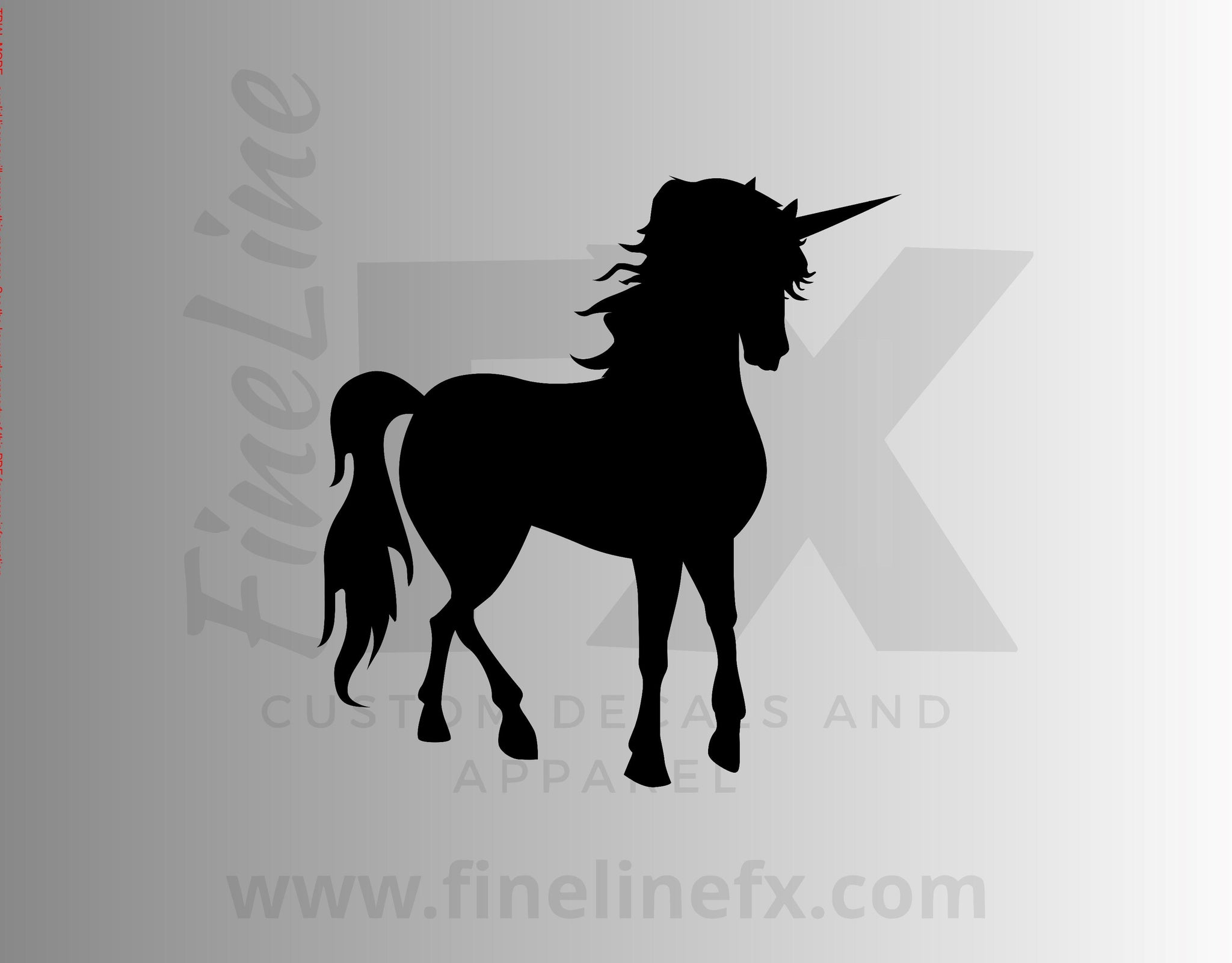 Unicorn Silhouette Vinyl Decal Sticker