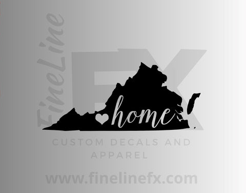Virginia Home State Vinyl Decal Sticker
