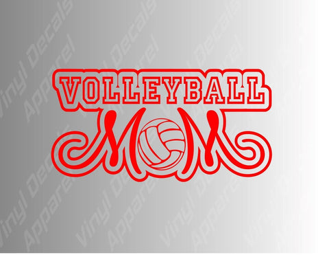 Volleyball Mom Vinyl Decal Sticker