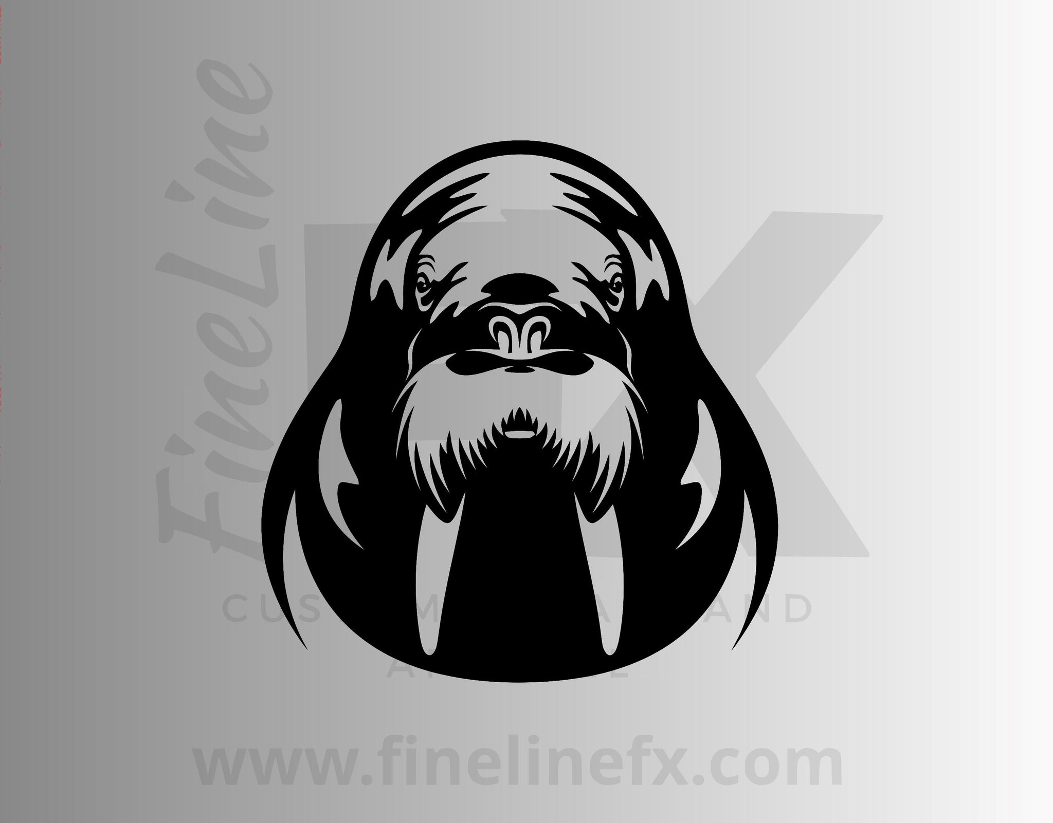 Walrus Vinyl Decal Sticker
