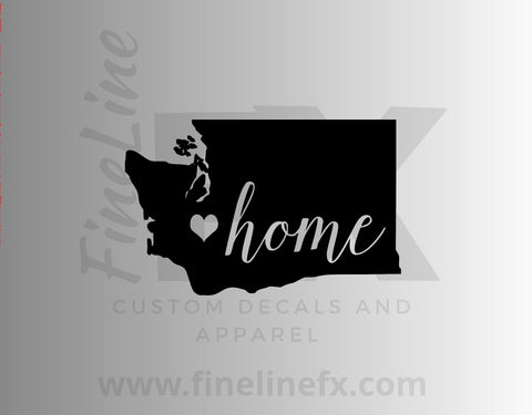 Washington Home State Vinyl Decal Sticker