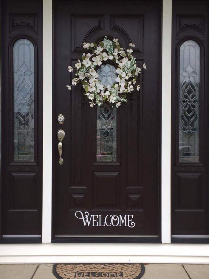 Welcome Wall Decal Front Door Decal Sticker