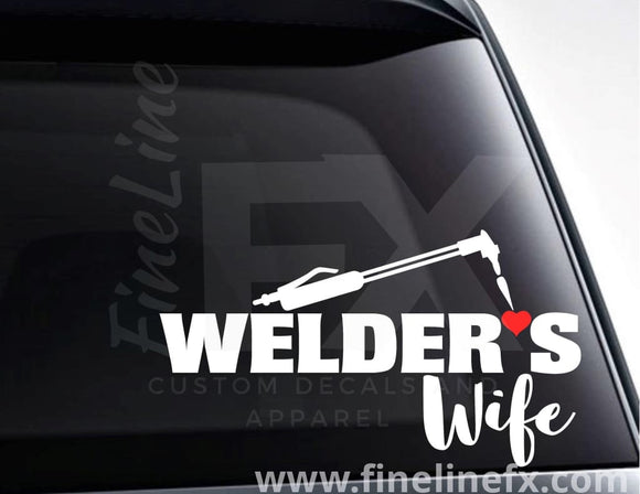 Welder's Wife Vinyl Decal Sticker - FineLineFX