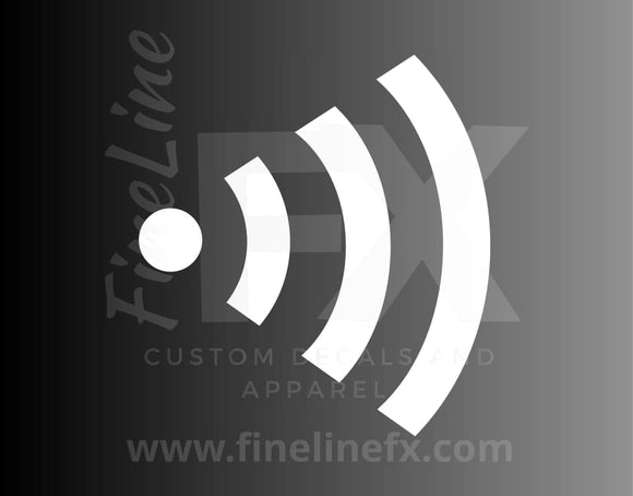 Wireless Wifi Signal Vinyl Decal Sticker - FineLineFX