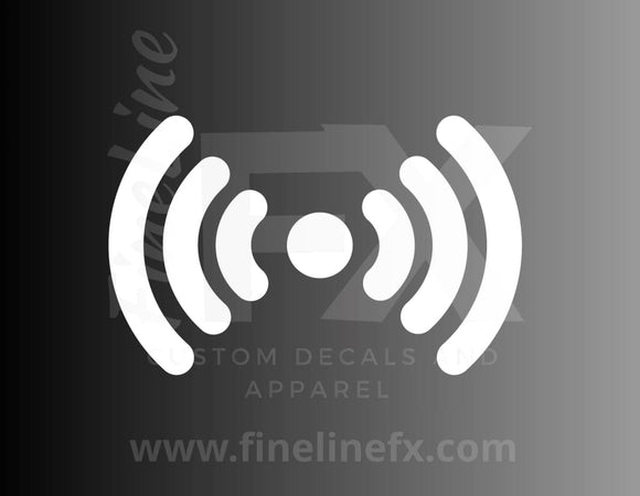 Wireless wifi signal vinyl decal / Sticker-FineLineFX