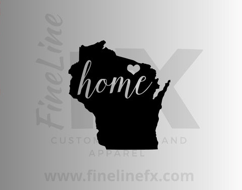 Wisconsin Home State Vinyl Decal Sticker