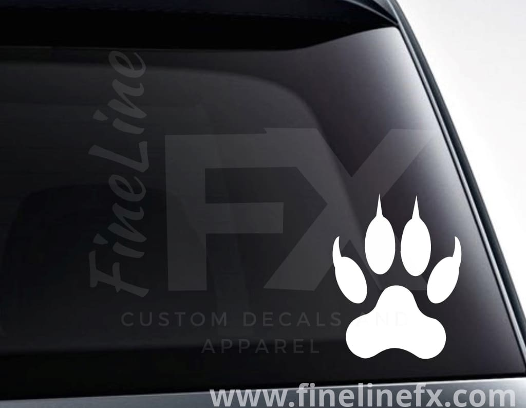 Wolf Paw Print Vinyl Decal Sticker