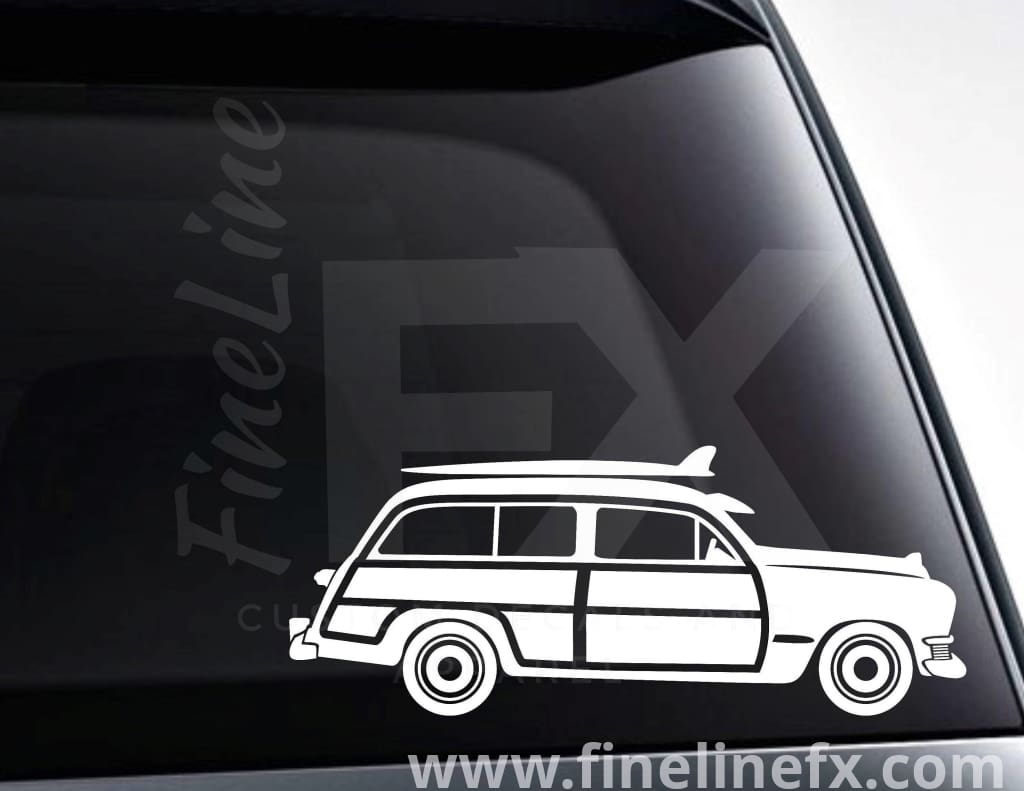 Woody Surf Wagon Vinyl Decal Sticker