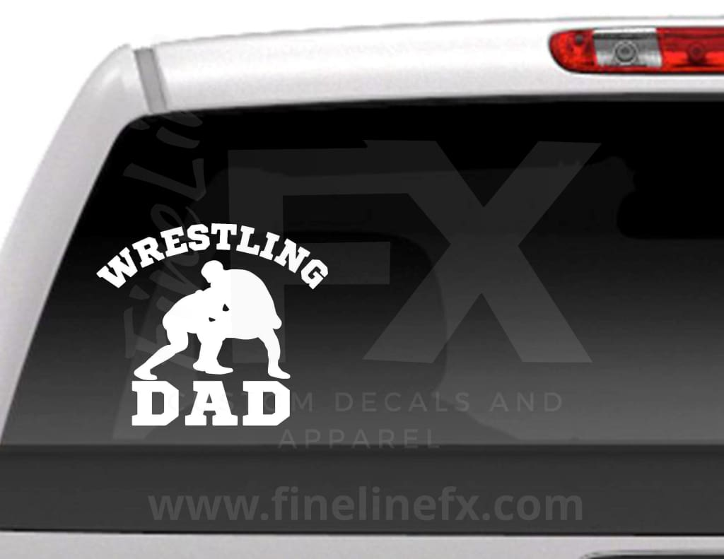Wrestling Dad Vinyl Decal Sticker