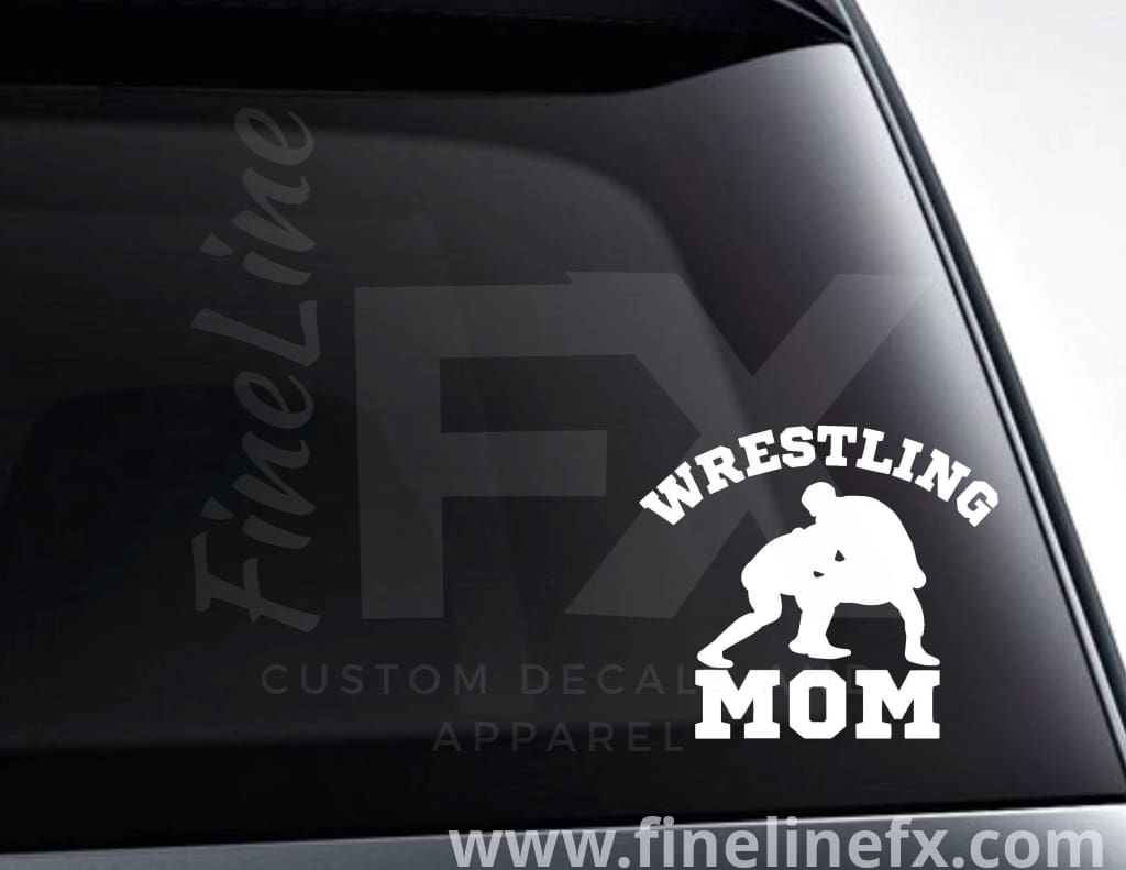 Wrestling Mom Vinyl Decal Sticker