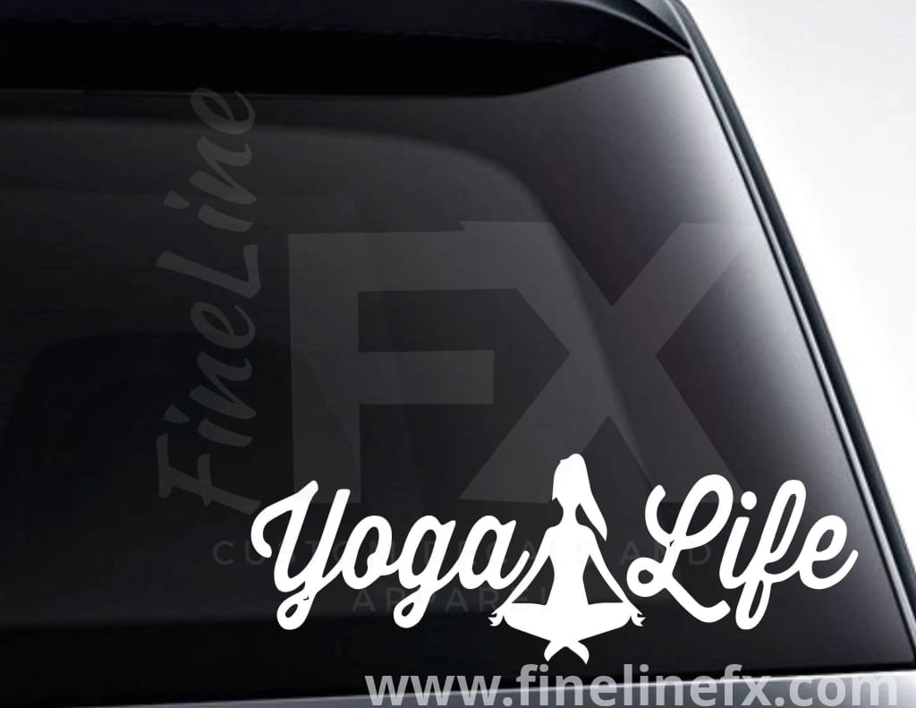 Yoga Life Vinyl Decal Sticker