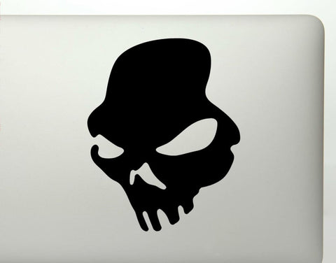 Zombie Skull Vinyl Decal Sticker