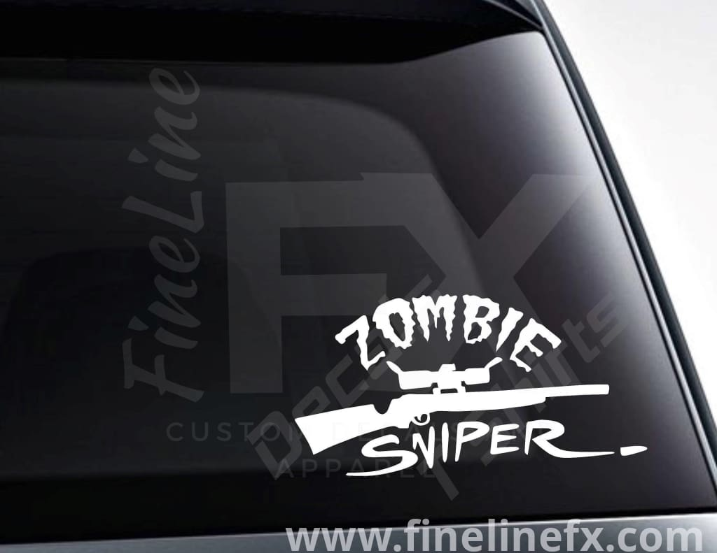 Zombie Sniper Vinyl Decal Sticker