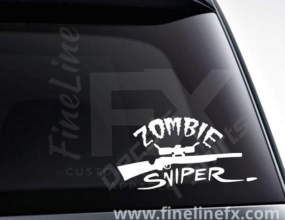 Zombie Sniper Vinyl Decal Sticker - FineLineFX
