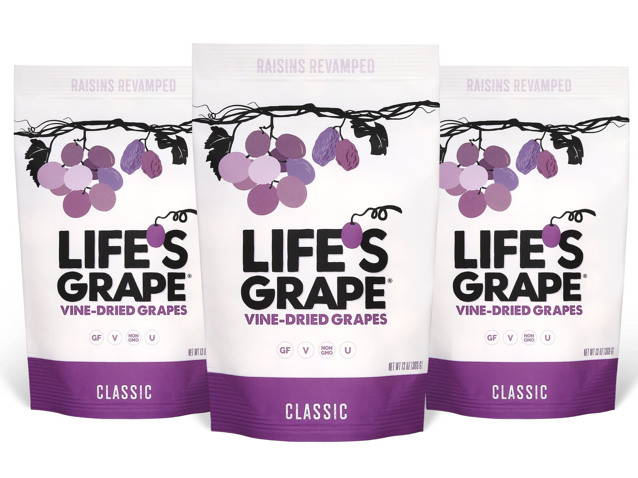 classic vine-dried grapes | resealable (3) 13 oz pouches