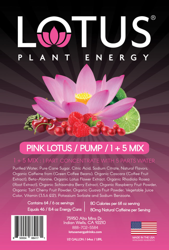 Pink Lotus Energy Concentrate 1 2 Gallon Pump Serve