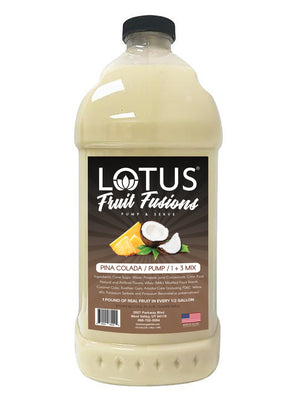 Pina Colada Lotus Fruit Fusion Concentrate 1/2 Gallon Pump & Serve