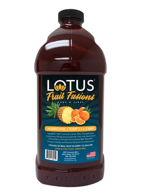 Hurricane Lotus Fruit Fusion Concentrate 1/2 Gallon Pump & Serve
