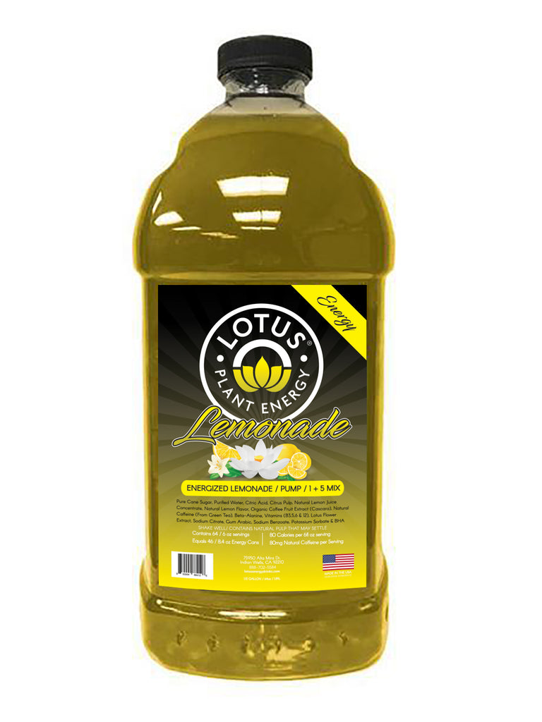 Lotus Energy Lemonade Concentrate / 1/2 Gallon Pump & Serve