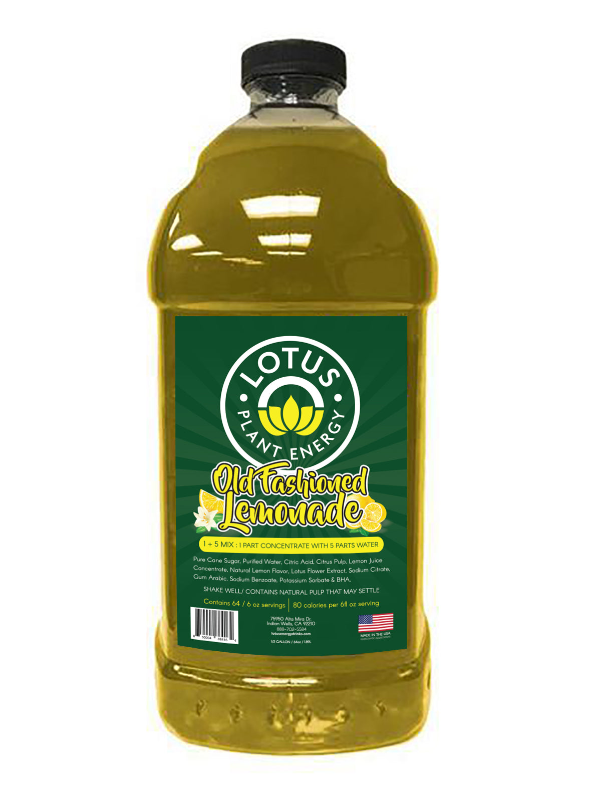 Lotus Lemonade Concentrate / No Caffeine / 1/2 Gallon Pump & Serve