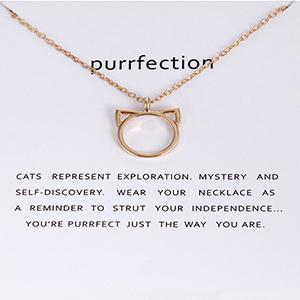 Purrfection Cat Pendant Necklace
