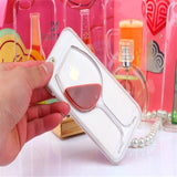 Red Wine Transparent Iphone Case