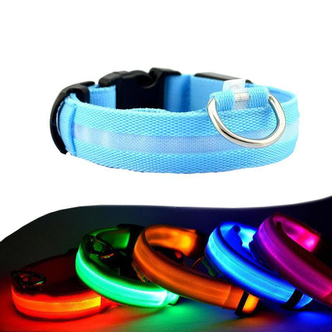 Glow in the Dark LED Safety Nylon Pet Collar