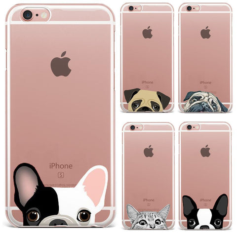 Cartoon Animal Transparent iPhone Case