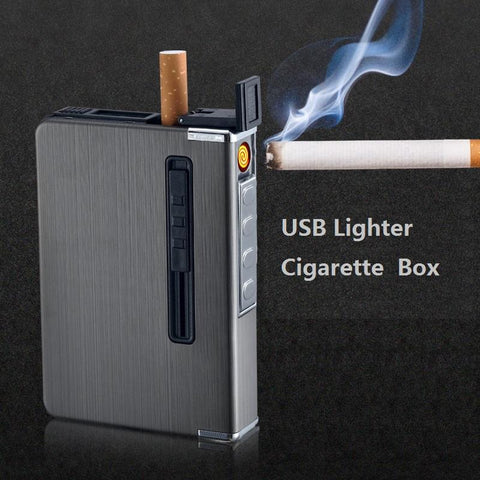 Multi-function Cigarette Case With Built-In USB Lighter