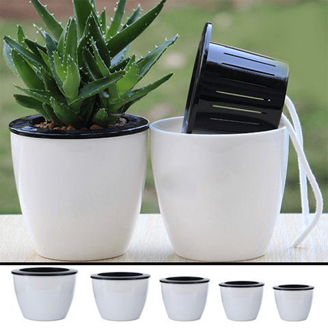 Self Watering Flower Pots (Set of 3)