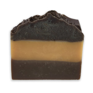 Soap bar with layers of Cuban tobacco, Bay Rum, and coffee